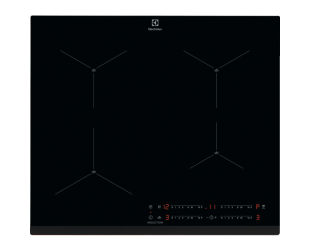 Indukcinė kaitlentė Electrolux 600 series SenseBoil Hood EIS62443, Number of burners/cooking zones 4, Touch control, Timer, Black, Display