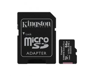 Atminties kortelė Kingston Canvas Select Plus UHS-I 64GB Micro SDXC CL10 su SD adapteriu