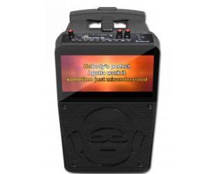 Kolonėlė iDANCE K5 Karaoke Party Box su 2 mikrofonais
