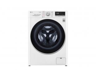 Skalbimo mašina LG Washing machine F4WN408S0 Energy efficiency class D, Front loading, Washing capacity 8 kg, 1400 RPM, Depth 56 cm, Width 60 cm, Display, LED touch screen, Steam function, Direct drive, Wi-Fi, White