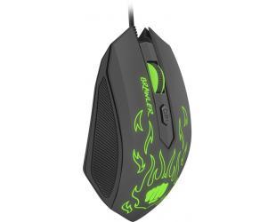 Pelė FURY Brawler Optical Gaming mouse, 1600DPI, Wired, Black/Green