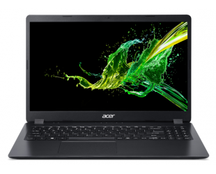 "Nešiojamas kompiuteris Acer Aspire 3 A315-54K-35JT Black 15.6"" i3-7020U 8GB 256GB SSD Intel HD Windows 10"