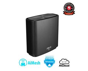 Maršrutizatorius Asus Router ZenWifi AC (CT8) 1 Pack 802.11ac, 10/100/1000 Mbit/s, Ethernet LAN (RJ-45) ports 3, Mesh Support No, MU-MiMO Yes, Antenna type Internal, 1, Black