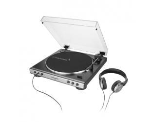 Patefonas Audio Technica AT-LP60XHPGM su ausinėmis, 1.9W