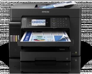 Rašalinis daugiafunkcinis spausdintuvas Epson EcoTank L15160 Colour, Inkjet, Multicunctional A3+, Wi-Fi, Black