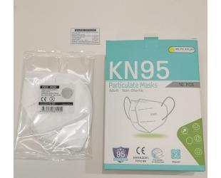 Veido kaukė (respiratorius) JIANGXI KN95 FPP2, 5 sluoksnių, 1 vnt