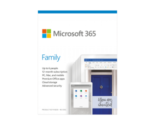 Programinė įranga Microsoft 365 Family 6GQ-01159 Up to 6 People, License term 1 year(s), Lithuanian, Medialess, P6