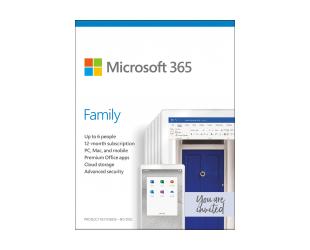 Programinė įranga Microsoft 365 Family 6GQ-01164 Up to 6 People, License term 1 year(s), Russian, Medialess, P6
