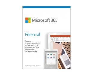 Programinė įranga Microsoft 365 Personal QQ2-00989 1 Person, License term 1 year(s), English, Medialess, P6