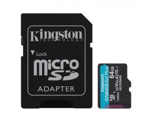 Atminties kortelė Kingston Canvas Go! Plus 64GB Micro SD CL10 su SD adapteriu