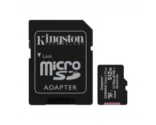 Atminties kortelė Kingston Canvas Select Plus 512 GB, Micro SD, Flash memory class 10, SD adapter
