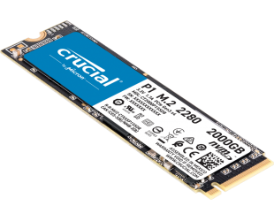 SSD diskas Crucial SSD P1 2000 GB, SSD form factor M.2, SSD interface PCIe G3 1x4 / NVMe, Write speed 1700 MB/s, Read speed 2000 MB/s