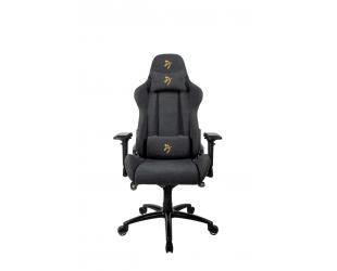 Žaidimų kėdė Arozzi Verona Signature Soft Fabric, Black/Golden Logo