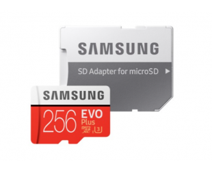 Atminties kortelė Samsung Card Evo Plus 256GB Micro SDXC CL10 su SD adapteriu