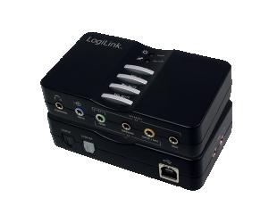 Komutatorius Logilink USB sound box 7.1 8-channel UA0099