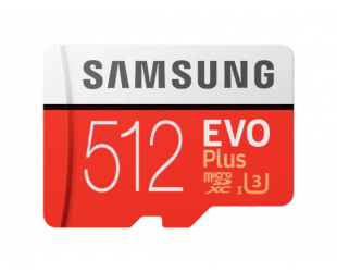 Atminties kortelė Samsung Card Evo Plus 512GB Micro SDXC CL10 su SD adapteriu