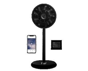 Ventiliatorius su stovu Duux Whisper Flex Smart, baterija, laikmatis