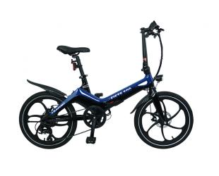 """Elektrinis dviratis Blaupunkt Fiete 500, galia 250 W, ratų dydis 20 """", Blue/Black"""