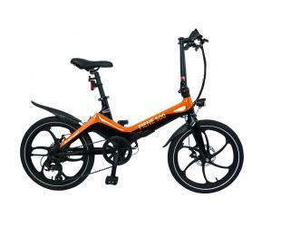 """Elektrinis dviratis Blaupunkt Fiene 500, galia 250 W, ratų dydis 20 """", Orange/Black"""