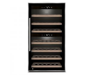 Vyno šaldytuvas Caso Wine cooler WineComfort 66 Energy efficiency class G, Free standing, Bottles capacity Up to 66 bottles, Cooling type Compressor technology, Black
