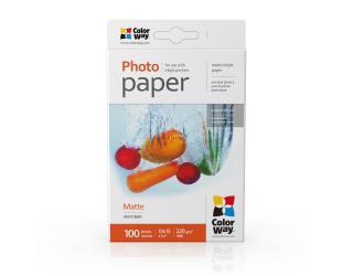 Popierius ColorWay PM2201004R Matte Photo Paper, White, 10 x 15 cm, 220 g/m²
