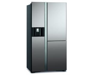 Šaldytuvas Hitachi Refrigerator with Vacuum compartment R-M700VAGRU9X (MIR) Energy efficiency class G, Free standing, Side by side, Height 180 cm, No Frost system, Fridge net capacity 362 L, Freezer net capacity 207 L, Display, 42 dB, Mirror