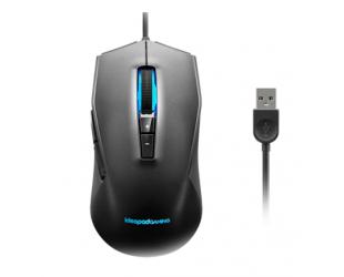 Pelė Lenovo IdeaPad Gaming M100 RGB Gaming Mouse, Black, Ergonomic shape; 2 zone RGB; 7-colour circulating backlight; 1000 rps report rate, Wired via USB 2.0