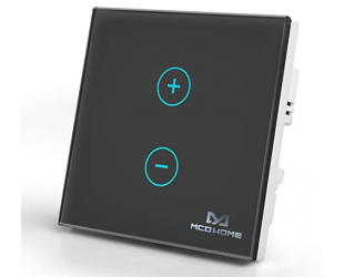 MCO Home Glass Touch Dimmer Z-Wave Plus, Front edge and rear edge compatible, Supports two-wire and three-wire systems