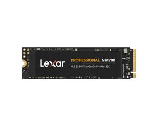 SSD diskas Lexar NVMe SSD Professional NM700 512 GB, SSD form factor M.2 2280, SSD interface PCIe Gen3x4, Write speed 2000 MB/s, Read speed 3500 MB/s