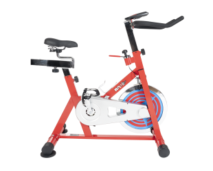 Dviračio treniruoklis WNQ F1-318M1 Home Use Spin Bike, 8 Gear, Friction mechanism, 110 kg, Chain Driven, Bright Red, LCD display