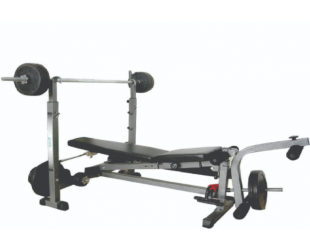 Treniruočių suoliukas WNQ 518GA 5-Ways Weight Lifting Bench, Multi Function: training leg, chest, arm, abdomen together, Black
