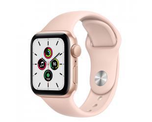Išmanusis laikrodis Apple Aluminium Case with Sport Band - Regular SE GPS Smart watch, GPS (satellite), LTPO OLED Retina, Touchscreen, Heart rate monitor, Waterproof, Bluetooth, Wi-Fi, Gold/Pink Sand
