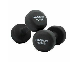 Hanteliai Proiron PRKNED10K komplektas, 2 vnt, 10 kg, juodas, Neoprene