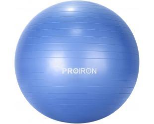 Gimnastikos kamuolys Proiron PRO-YJ01-1, skersmuo: 75 cm, storis: 2 mm, Blue, PVC