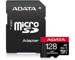 Atminties kortelė ADATA AUSDX128GUI3V30SHA2-RA1 Memory Card 128 GB, MicroSDXC, Flash memory class 10, Adapter, 80 MB/s, 100 MB/s
