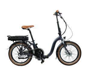 El. dviratis Blaupunkt Folding E-bike FRANZI 500, 250 W, 25 km/h, Aluminum, 80 km, LCD, 4 h, Lava grey matt, 22.5 kg