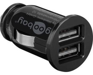 Automobilinis įkroviklis Goobay Dual USB 58912 USB 2.0 port A, 3.1 A, 12 V
