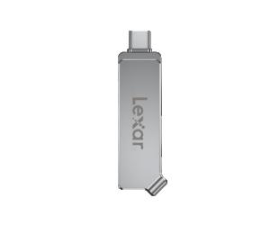 USB raktas Lexar Dual Drive D30c 64GB, USB 3.1, Silver, 50 MB/s, USB Type-C / USB Type-A, 150 MB/s
