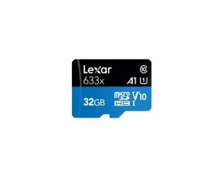 Atminties kortelė Lexar High-Performance 633x UHS-I microSDHC, 32 GB, Class 10, U1, V10, A1, 100 MB/s