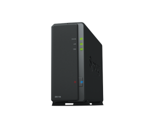 Diskų masyvas Synology Tower NAS DS118 up to 1 HDD/SSD Hot-Swap, Realtek RTD1296 Quad Core, Processor frequency 1.4 GHz, 1 GB, DDR4, 1x1GbE, 2xUSB 3.0, Single Fan