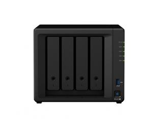 Diskų masyvas Synology Tower NAS DS420+ up to 4 HDD/SSD Hot-Swap, Intel Celeron Dual Core, Processor frequency 2 GHz, 2 GB, DDR4, 2xM.2 NVMe slots, RAID 0,1,5,6,10,Hybrid, 2x1GbE, 2xUSB 3.0, Dual Fan