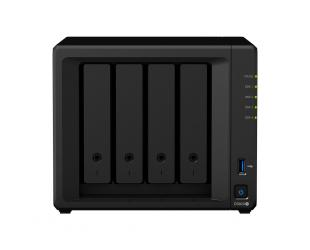 Diskų masyvas Synology Tower NAS DS920+ up to 4 HDD/SSD Hot-Swap, Intel Celeron J4125 Quad Core, Processor frequency 2 GHz, 4 GB, DDR4, 2xM.2 NVMe slots, RAID 0,1,5,6,10,Hybrid, 2x1GbE, 2xUSB 3.0, 1x eSATA, Dual Fan