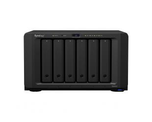 Diskų masyvas Synology Tower NAS DS1621+ up to 6 HDD/SSD Hot-Swap, Ryzen V1500B Quad Core, Processor frequency 2.2 GHz, 4 GB, DDR4, RAID 0,1,5,6,10,Hybrid, 4x1GbE, 3xUSB 3.0, 2x eSATA, Dual Fan
