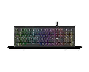 Klaviatūra GENESIS THOR 210 RGB Gaming Keyboard, US Layout, Wired, Black, RGB backlight