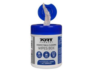 Servetėlės PORT DESIGNS Disinfecting and Cleaning Wipes Box 100 units