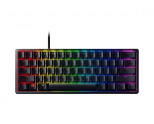 Žaidimų klaviatūra Razer Huntsman Mini 60%, Gaming, Opto-Mechanical, RGB LED light, Nordic, Black, Wired
