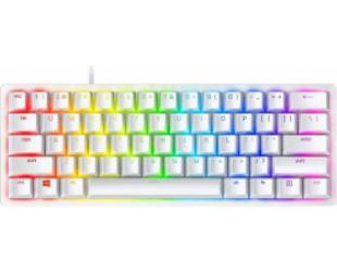 Žaidimų klaviatūra Razer Huntsman Mini 60%, Gaming, Opto-Mechanical, RGB LED light, Nordic, Mercury White, Wired