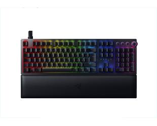 Žaidimų klaviatūra Razer Huntsman V2, Optical Gaming Keyboard, RGB LED light, Nordic, Black, Wired