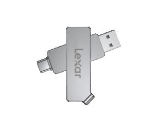 USB raktas Lexar JumpDrive 128GB, USB 3.1 (Gen 1 ), Sliver, 50 MB/s, USB Type-C/USB Type-A, 150 MB/s