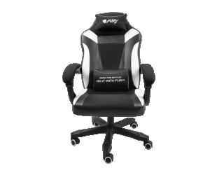 Žaidimų kėdė Fury Gaming Chair Fury Avenger M+ Black/White